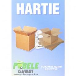 Eticheta autocolant colectare selectiva - ALBASTRU - hartie si carton