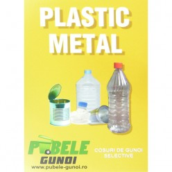 Eticheta autocolant colectare selectiva - GALBEN- plastic si metal