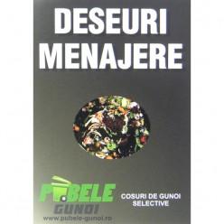 Eticheta autocolant colectare selectiva - NEGRU- deseuri menajere