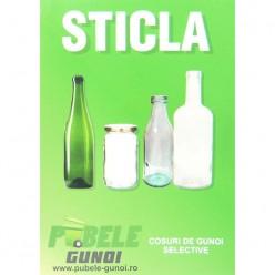 Eticheta autocolant colectare selectiva - VERDE - sticla