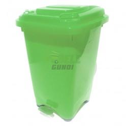 Cos gunoi 50 litri verde cu pedala